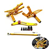 Gold Adjustable R6 Rearsets Rear Sets 07 Footpegs For Yamaha YZF-R6 2006-2014