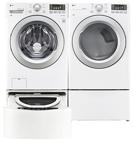 LG TwinWash White Front Load Laundry Pair with WM3170CW 27