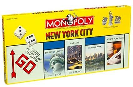 Amazon.com: USAopoly Ciudad de Nueva York Monopoly Game ...