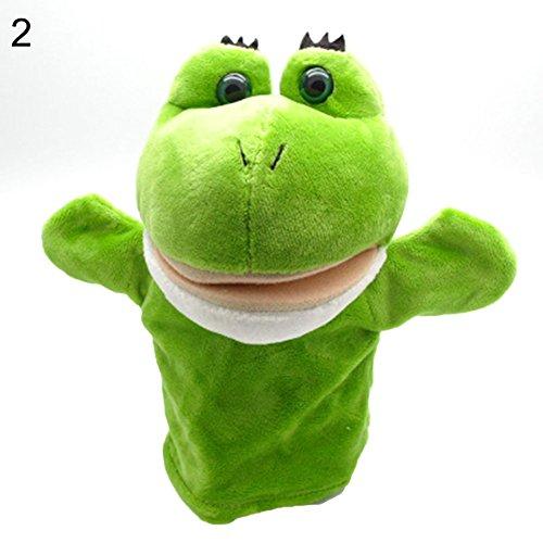 (Aland Cartoon Animals Monkey Dog Lion Stuffed Plush Hand Puppet Xmas Kid Children Gift 2#)