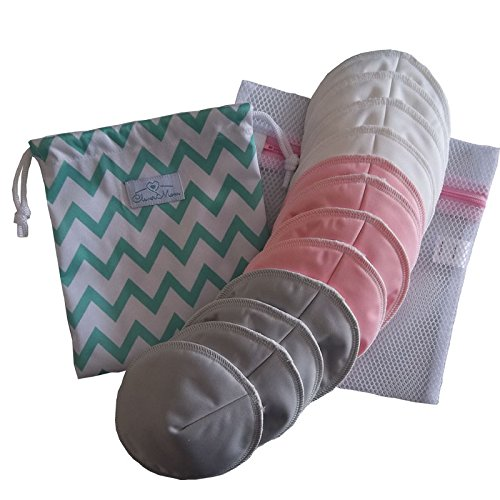 Review Of The Best Washable Reusable Nursing Pads (12 pack)! Contoured/Cup-Shaped for Better Fit and...