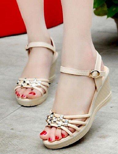 810168924b9a36 ... ShangYi Sandaletten für Damen Damenschuhe - Sandalen - Büro   Kleid -  Kunstleder - Keilabsatz -