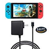 AC Adapter for Nintendo Switch - FYOUNG Nintendo Switch Charger with 5FT Power Cord - 15V 2.6A Power Adapter for Nintendo Switch (Support TV Mode and Switch Pro Controller)