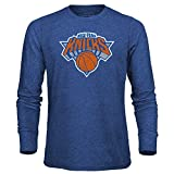 NBA New York Knicks Men's Premium Triblend Long Sleeve Tee, Large, Royal