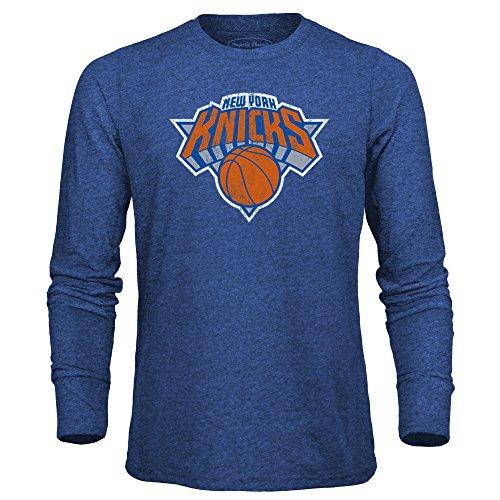 NBA New York Knicks Men's Premium Triblend Long Sleeve Tee, Large, Royal (The New York Knicks)