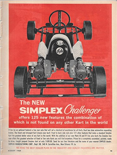 Simplex Print (The New Simplex Challenger 1960 Print Ad)