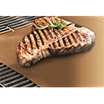 """YOSHI GRILL & BAKE MATS (2 Pack), Copper 12 100% non stick - food slides right off! Contains 2 mats for grilling and/or baking - each measure 15. 75"""" x 13"""" Infused with real Copper, PFOA free and can withstand heat up to 500 degrees"""
