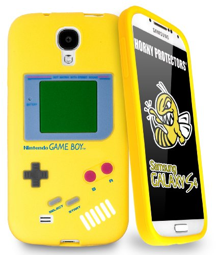 Horny Protectors 14001-0026 Retro Style Nintendo Game Boy Silikon Schutzhülle für Samsung Galaxy S IV i9500 gelb