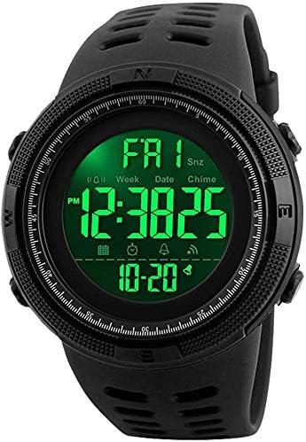 Reloj Deportivo a Prueba de Agua con Rostro Grande de Negocios, Militar, Digital, para Hombres.