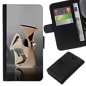 EJOY---La carpeta del tirón la caja de cuero de alta calidad de la PU Caso protector / Sony Xperia M2 / --Abstracto