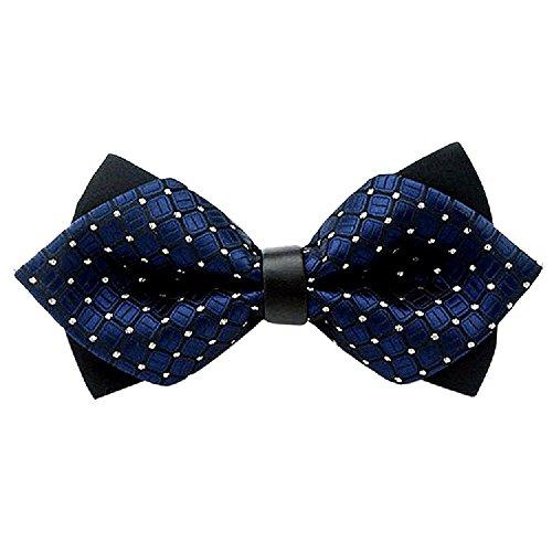 Toogoo Moda r Festa Cravatta Marino Fiocco Regolabile blu Papillon Party Fancy wedding X5OWq