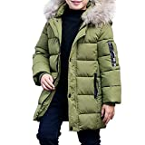 Boy's Winter Hooded Cotton Coat Jacket Parka Outwear Blak Tag 170CM