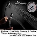 YOO.MEE High Pressure Multi-functions Handheld Shower Head with Hose, Bracket and Teflon Tape