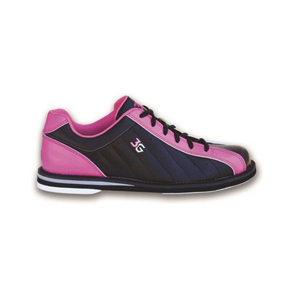 3G Women's Kicks Bowling Shoes (10 M US, Black/Pink)