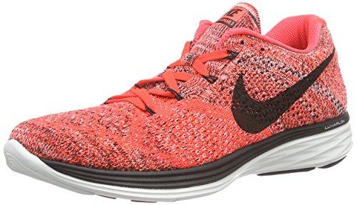 NikeFlyknit Lunar3 - Zapatillas de Running Hombre Rojo / Negro / Naranja (Brght Crmsn / Blk-Hypr Orng-Smmt)
