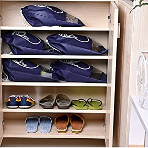10 PCS Travel Shoes Storage Organizer Bags with Drawstring Shoes Tote Bag for Women or Men(XL)