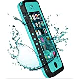 iPhone 5C Case,Mangix New Waterproof Shockproof Dirtproof Snowproof Protection Case Cover Only for Apple iPhone 5C Aqua Blue