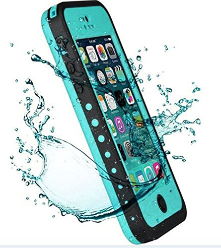 iPhone 5C Case,Mangix 3C-Aone New Waterproof Shockproof Dirtproof Snowproof Protection Case Cover Only for Apple iPhone 5C Aqua Blue (Iphone 5c Diving Case)