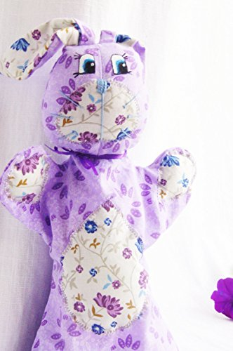 Glove puppet, animal hand puppet, rabbit toy, gift for baby.