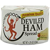 Underwood Deviled Ham Spread, 4.25 Ounce Cans (Pack of 6)
