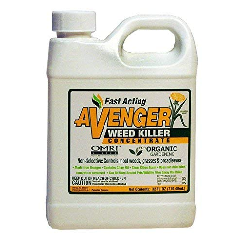 Avenger Organics Weed Killer Concentrate Roundup Glyphosate Alternative 32 Ounce (Best Spray To Kill Weeds But Not Grass)