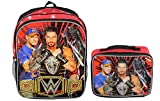 WWE Wrestling Boys School Backpack Book Bag Lunch Box Combo Set