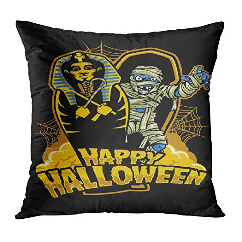 Golee Throw Pillow Cover Coffin Halloween Design Mummy