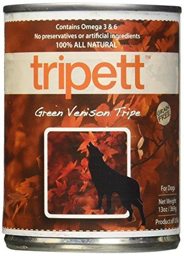 (Petkind Tripett Green Venison Tripe Canned Dog Food, 13-Oz, 12 Count)