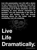 """Educational Theatre Drama Class Poster """"Live Life Dramatically"""" Theater"""