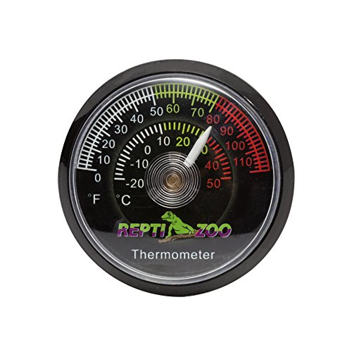 Habitat Thermometer - REPTI ZOO Reptile Terrarium Thermometer,Dial Gauges Pet Rearing Box Thermometer Celsius and Fahrenheit