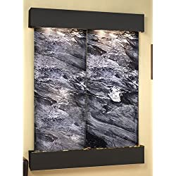 Adagio MRS1507 Majestic River - Black Spider Marble Wall Fountain