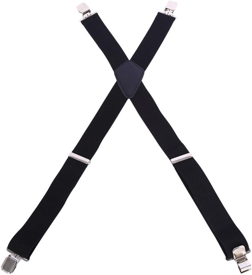 50 mm Bretelle da uomo 4 Clips X//Form pantaloni da donna bretelle elastiche