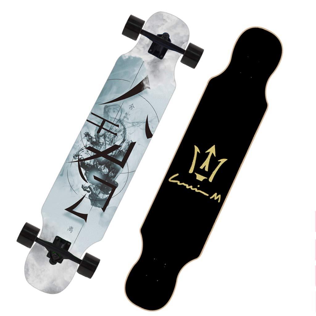 【激安大特価!】  DUWEN スケートボード初心者スケートボードロングボード大人のダンスボード男の子と女の子のブラシストリートティーンプロの旅行四輪スクーター (色 : F (色 f) D B07NQ48PFY D D D, ネルパラ:e6fba6b5 --- a0267596.xsph.ru
