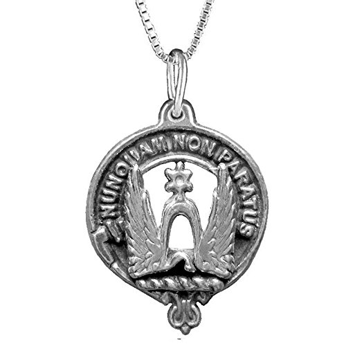 Johnston Clan Crest Scottish Pendant ~ Sterling Silver (Crest Pendant Sterling Silver Jewelry)