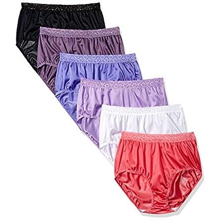 B9 Pink Purple Beige Brown Violet Love Heart Silky hipster sissy panties M L