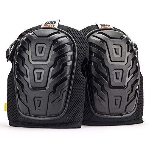 IAO Direct Knee Pads for Work - Comfortable Foam Padding To Keep Your Knees Protected - For Construction, Gardening, Maintenance Projects or Cleaning Around The House - One Size Fits Most Men & Women