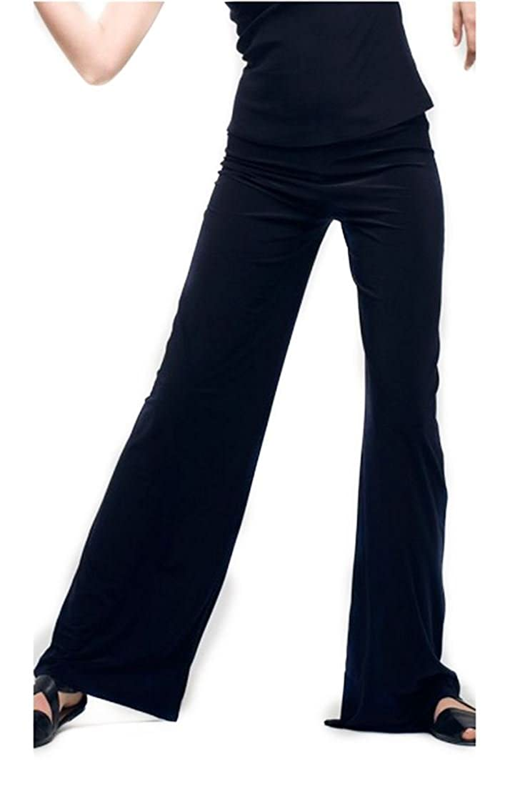 Black Norma Kamali Women's Straight Leg Pant  Midnight