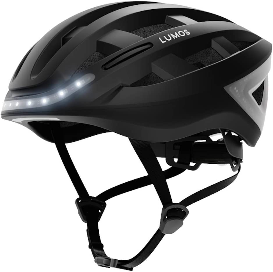 Skateboard Brake Lights Bluetooth Connected | Urban Women Charcoal Black, MIPS Front and Rear LED Lights Bike Accessories Turn Signals Scooter Adult: Men LUMOS Street Smart Helmet