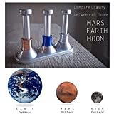 HXDZFX Moon Drop Desktop Toy – Desk toy that imitates free fall on Earth,Mars and Moon,Explore gravity defying effect,Compare Gravity between all three.
