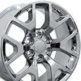 20x9 Wheel Fits GM Trucks & SUVs - GMC Sierra 1500 Style Chrome Rim, Hollander 5656