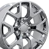 truck rims gmc sierra - 20x9 Wheel Fits GM Trucks & SUVs - GMC Sierra 1500 Style Chrome Rim, Hollander 5656