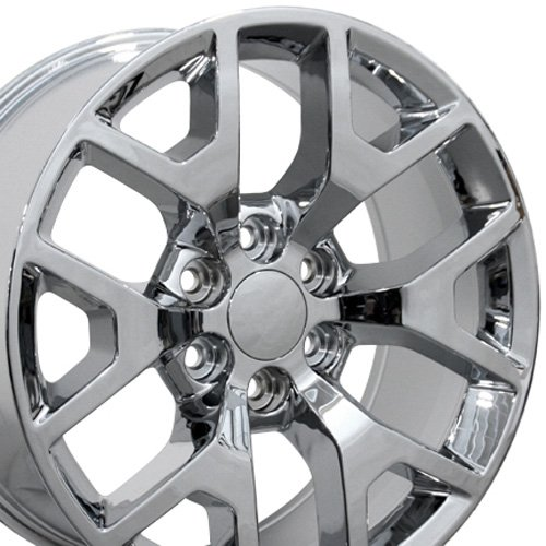 Aluminum Chrome Plated Rims (OE Wheels 20 Inch Fits Chevy Silverado Tahoe GMC Sierra Yukon Cadillac Escalade CV92 20x9 Rims Chrome SET)