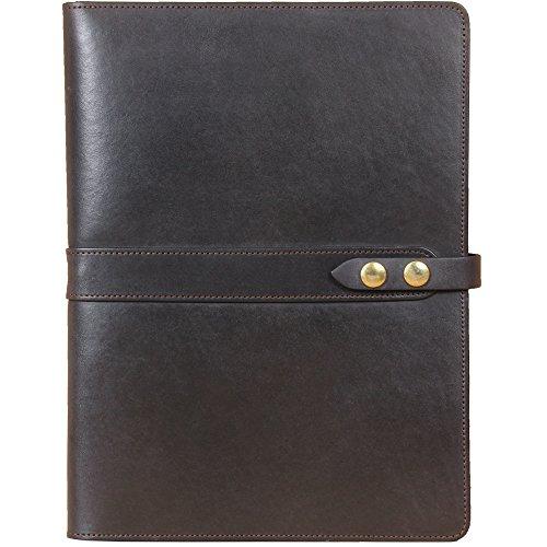 Black Leather Business Portfolio Case for Tablets iPad Folio USA Made Full-Grain No. 18