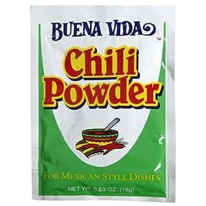 Buena Vida Chili Powder, 0.63-Ounce Packets (Pack of 24)