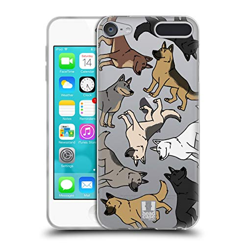 Head Case Designs German Shepherd Dog Breed Patterns Soft Gel Case for Apple iPod Touch 6G 6th Gen