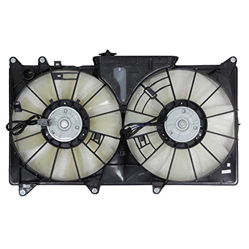 CPP Dual Radiator and Condenser Fan LX3115108 for 2001-2005 Lexus IS300