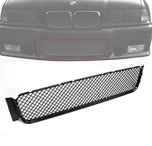 ZMAUTOPARTS BMW E36 M3 Front Bumper Lower Center Sport ABS Grille Grill Insert Black (Front Sport Grill)