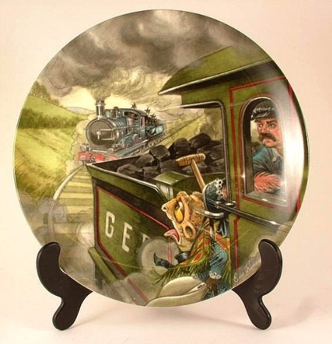 Wedgwood Wind in the Willows collector plate by Eric Kincaid The Great Train Chase CP750