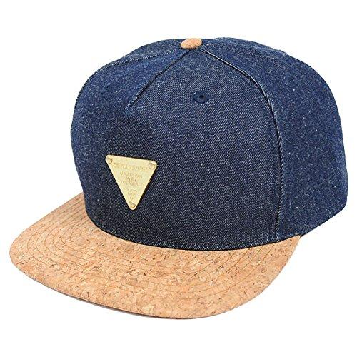 セブンユニオン サードアイ コルク 5パネル スナップバックキャップ デニム/コルク 7UNION 3rd EYE CORK 5PANEL SNAPBACK CAP 7UB-720 DENIM/CORK 紺 ネイビー 帽子