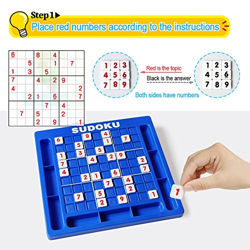 JUNSHEN Plastic Sudoku Puzzle Board Games Classical Puzzle Toys Brain Digital Puzzle Toys for Kids and Adults by JUNSHEN (Image #2)